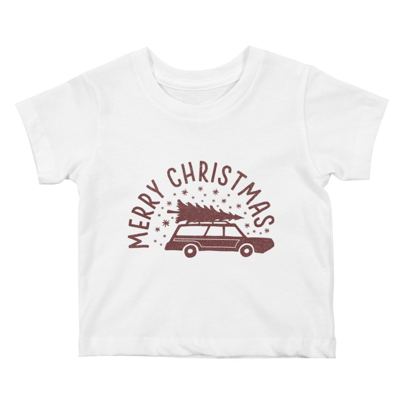 Merry Christmas Kids Baby T-Shirt by cabinsupplyco's Artist Shop