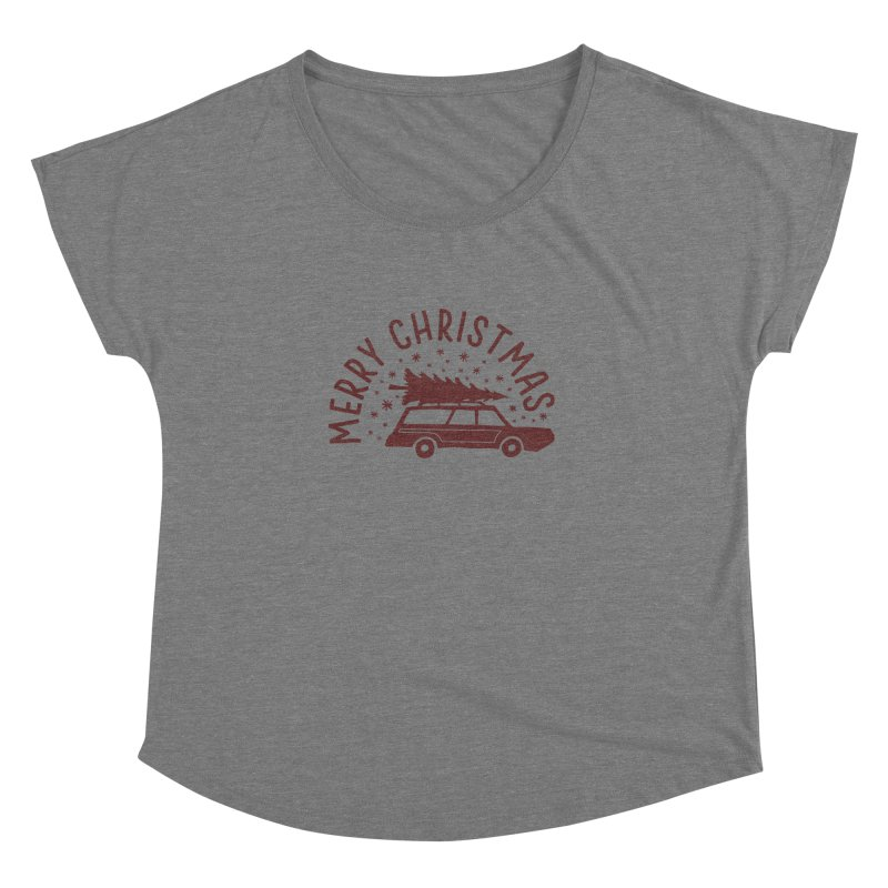 Merry Christmas Women's Dolman Scoop Neck by cabinsupplyco's Artist Shop