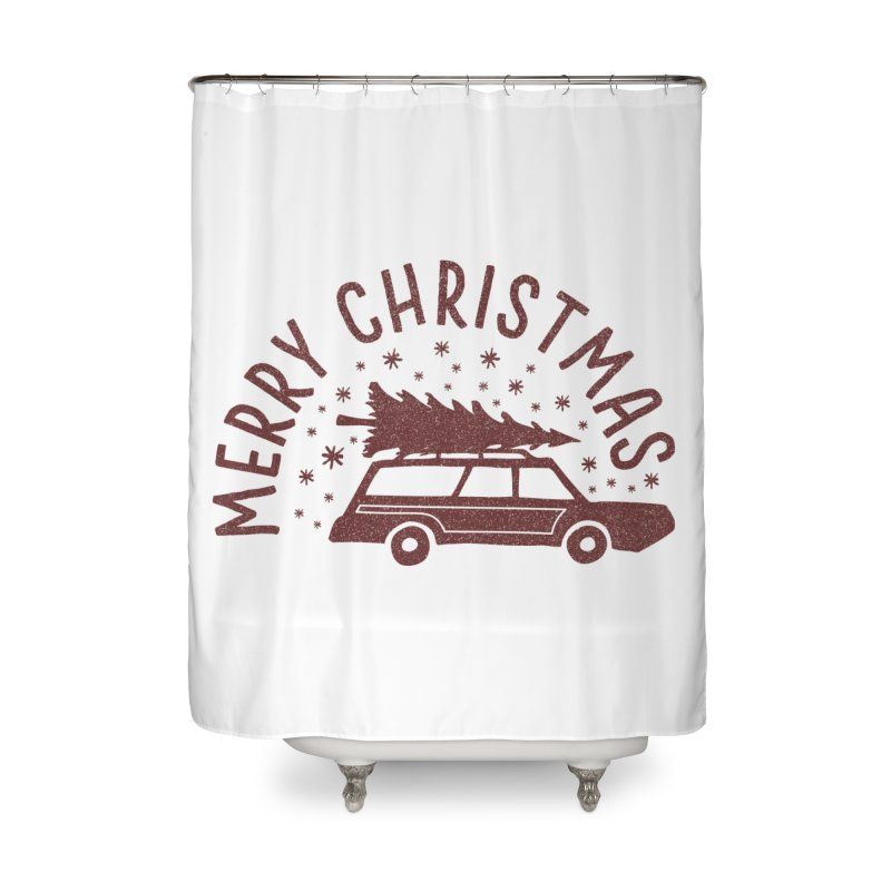 Merry Christmas Home Shower Curtain by cabinsupplyco's Artist Shop