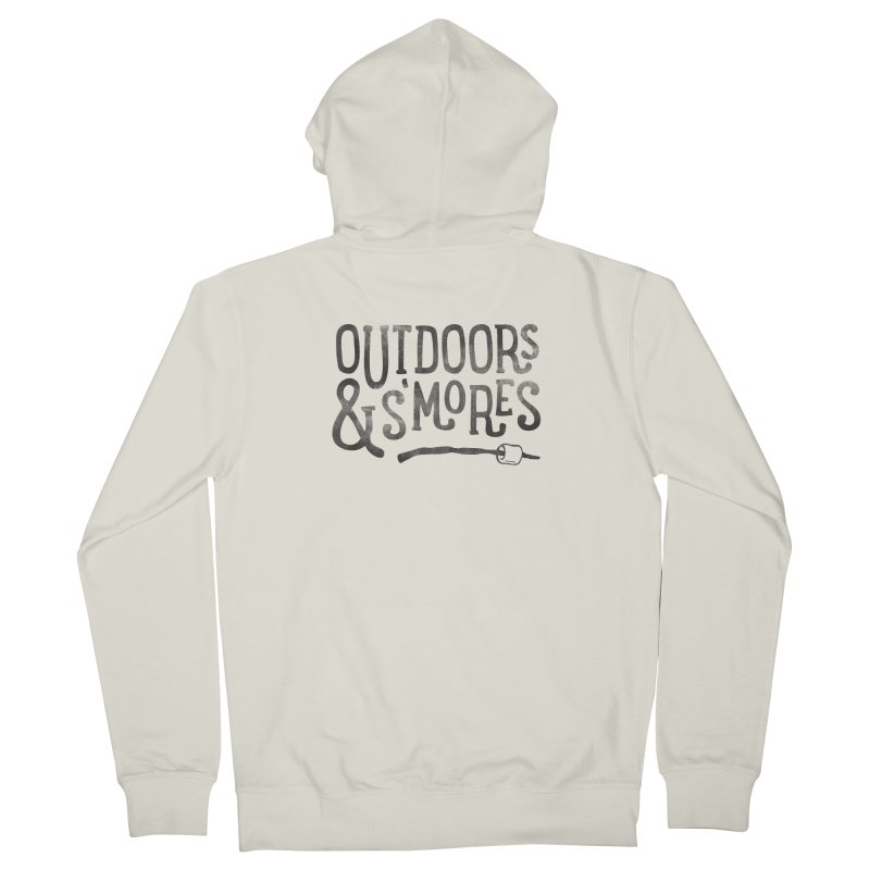 Outdoors & S'mores Women's French Terry Zip-Up Hoody by cabinsupplyco's Artist Shop