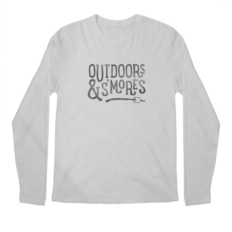 Outdoors & S'mores Men's Regular Longsleeve T-Shirt by cabinsupplyco's Artist Shop