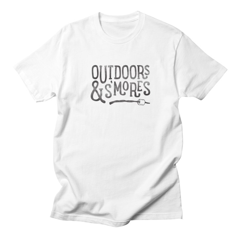Outdoors & S'mores Men's Regular T-Shirt by cabinsupplyco's Artist Shop