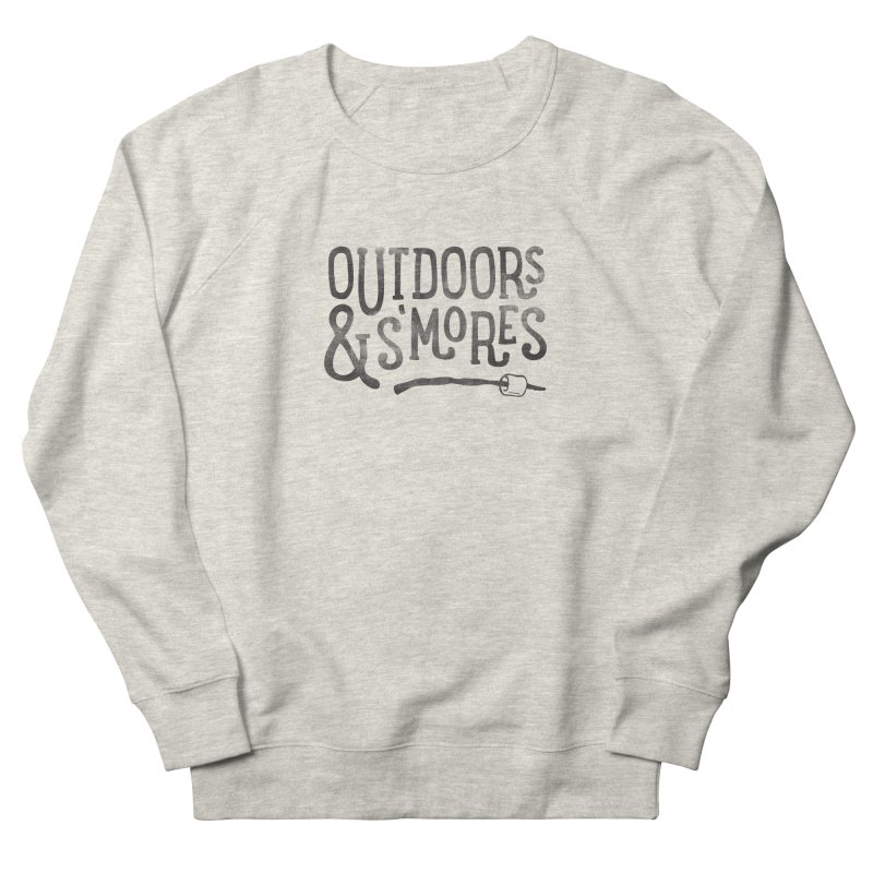 Outdoors & S'mores Men's French Terry Sweatshirt by cabinsupplyco's Artist Shop