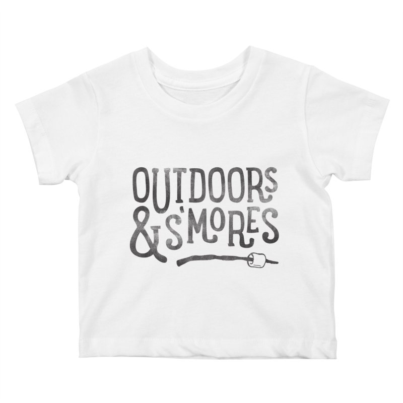 Outdoors & S'mores Kids Baby T-Shirt by cabinsupplyco's Artist Shop