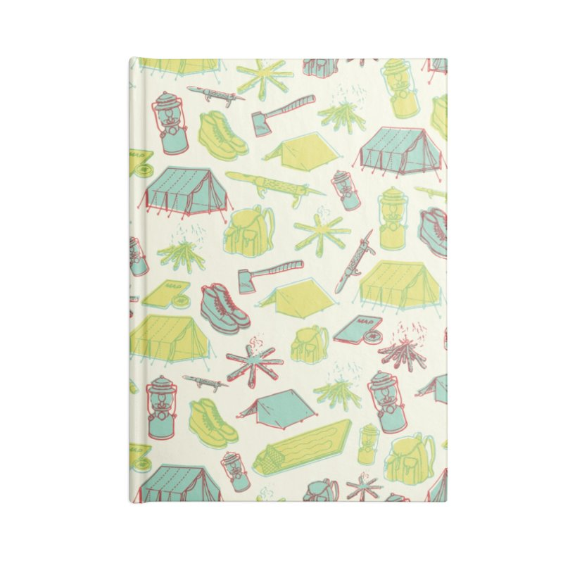 Retro Camping Accessories Lined Journal Notebook by cabinsupplyco's Artist Shop