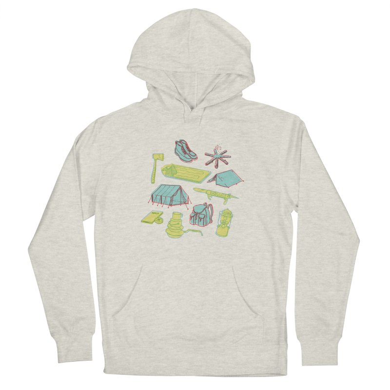 Retro Camping Women's French Terry Pullover Hoody by cabinsupplyco's Artist Shop