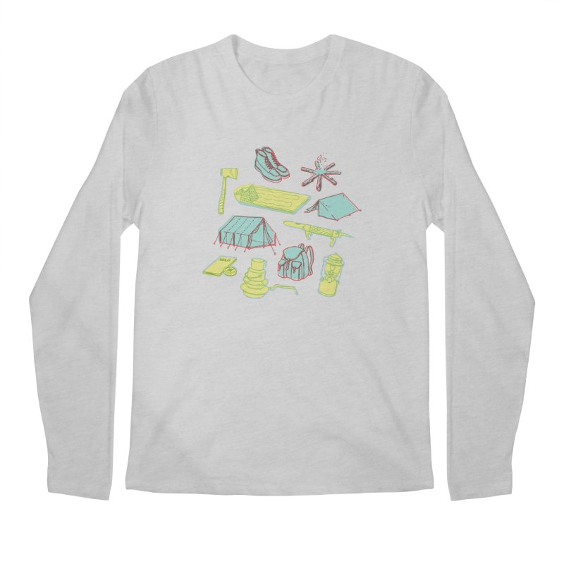 Retro Camping Men's Regular Longsleeve T-Shirt by cabinsupplyco's Artist Shop