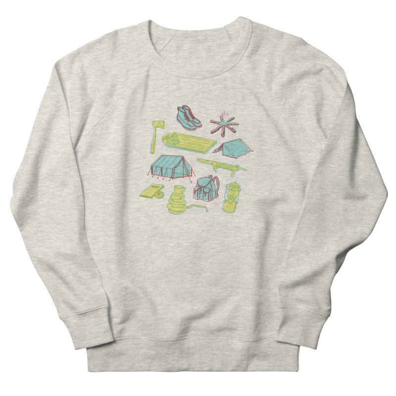 Retro Camping Men's French Terry Sweatshirt by cabinsupplyco's Artist Shop