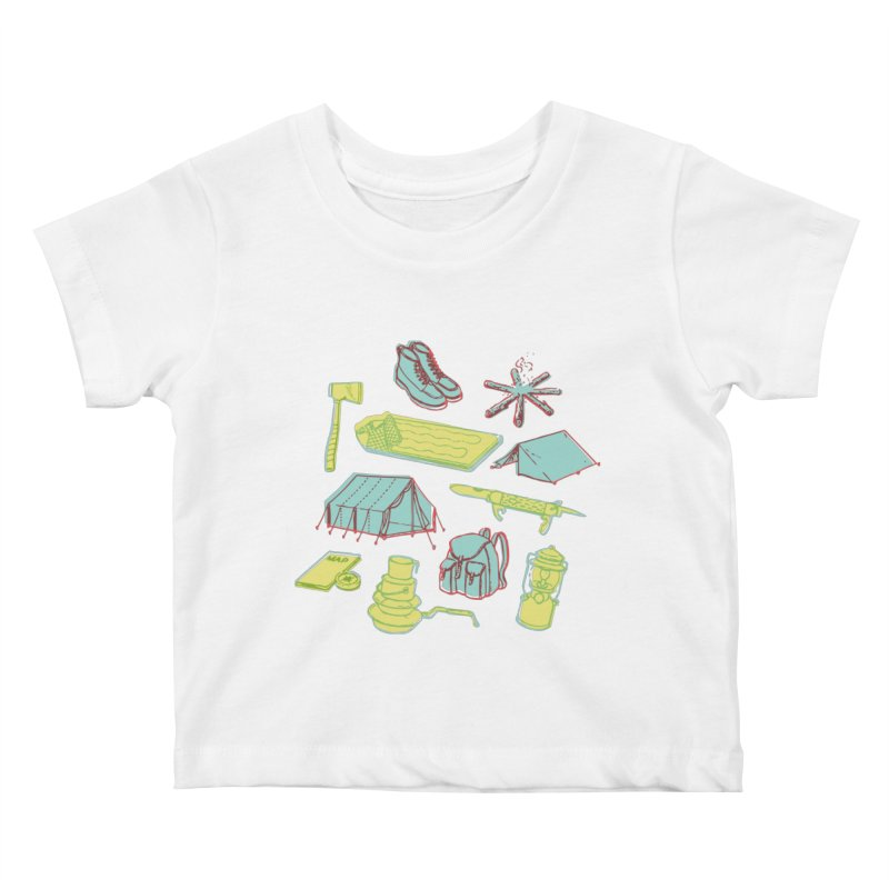 Retro Camping Kids Baby T-Shirt by cabinsupplyco's Artist Shop