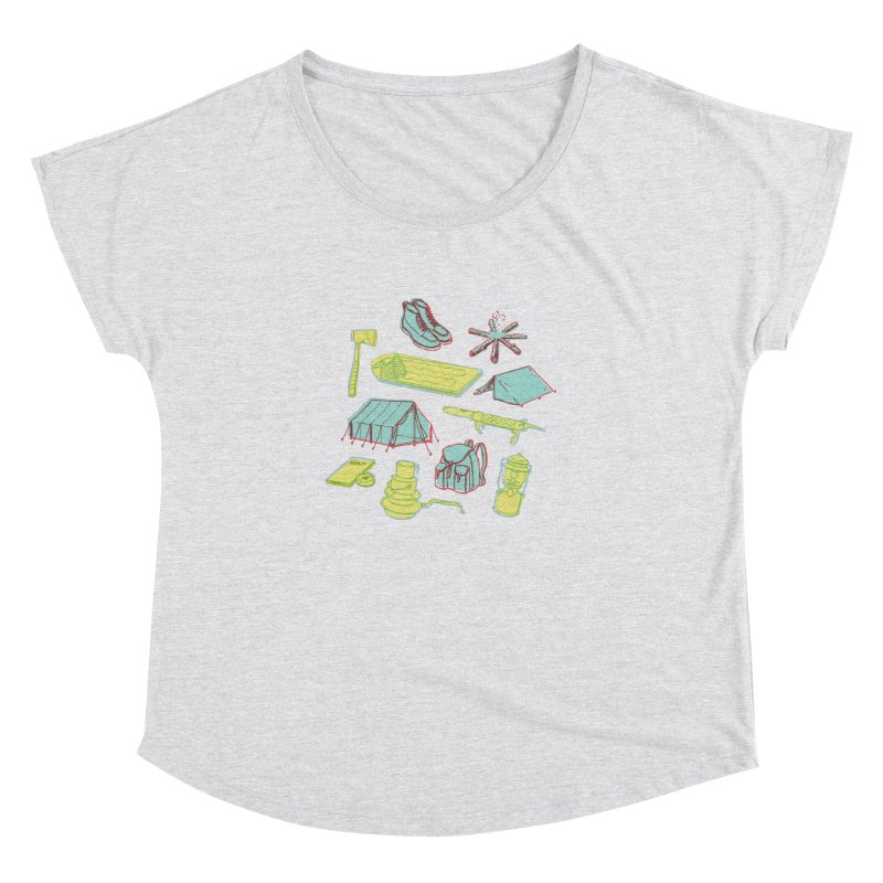 Retro Camping Women's Dolman Scoop Neck by cabinsupplyco's Artist Shop