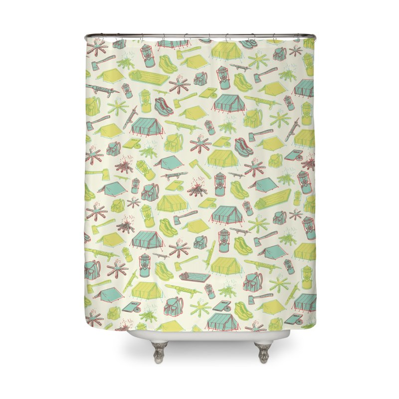 Retro Camping Home Shower Curtain by cabinsupplyco's Artist Shop