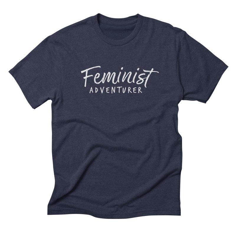 Feminist Adventurer in Men's Triblend T-Shirt Navy by cabinsupplyco's Artist Shop
