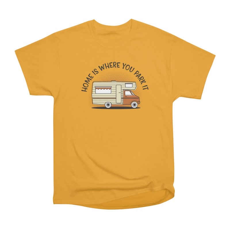 Home is Where You Park it in Men's Heavyweight T-Shirt Gold by cabinsupplyco's Artist Shop