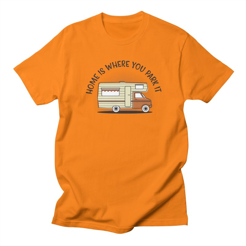 Home is Where You Park it Men's Regular T-Shirt by cabinsupplyco's Artist Shop