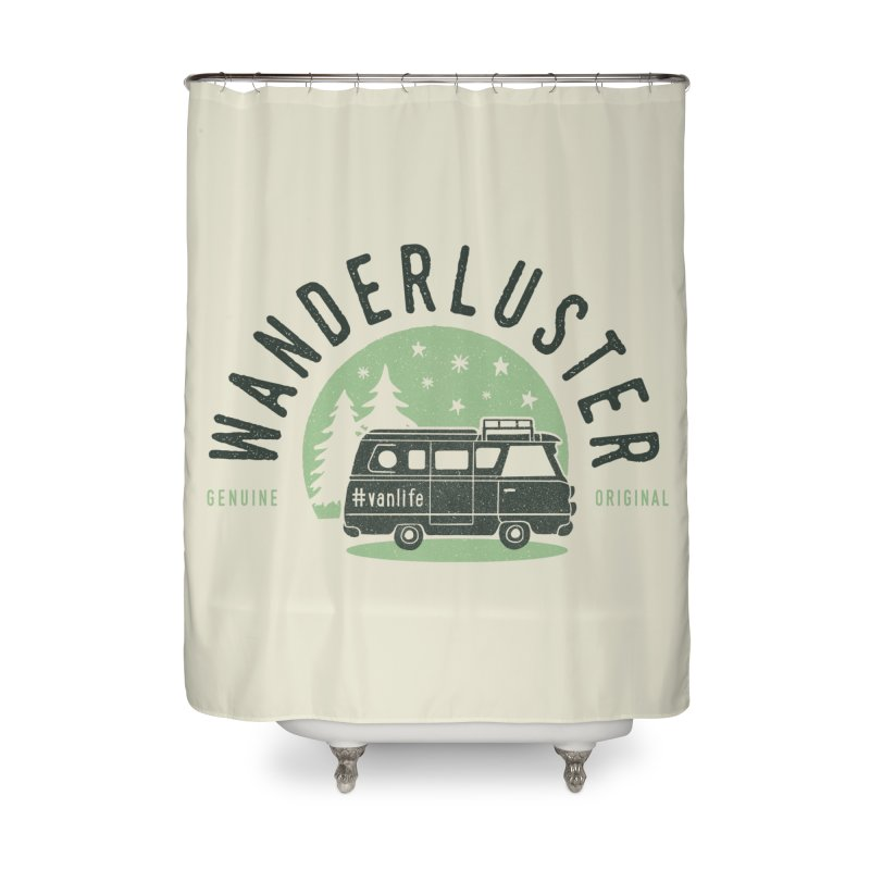 Wanderluster Home Shower Curtain by cabinsupplyco's Artist Shop