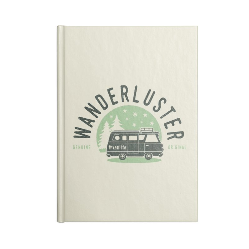 Wanderluster Accessories Lined Journal Notebook by cabinsupplyco's Artist Shop