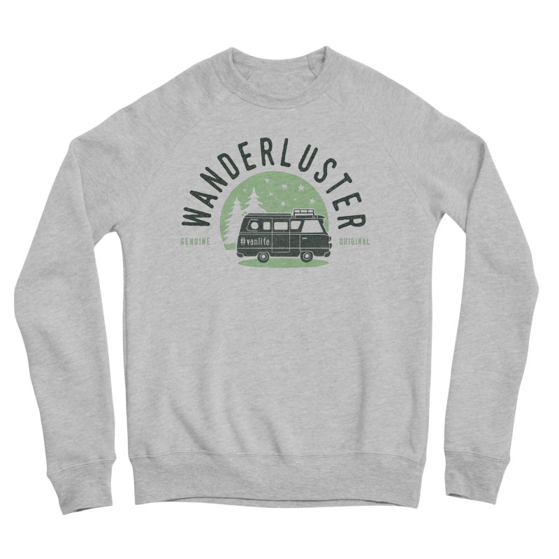 Wanderluster Men's Sponge Fleece Sweatshirt by cabinsupplyco's Artist Shop