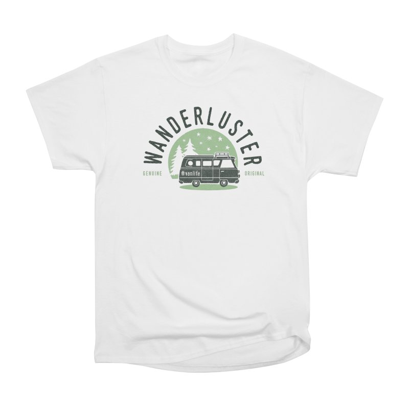 Wanderluster in Men's Heavyweight T-Shirt White by cabinsupplyco's Artist Shop