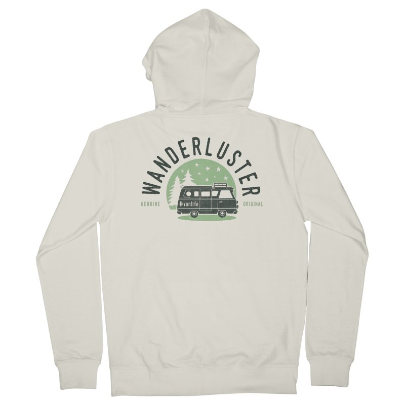 Wanderluster Women's French Terry Zip-Up Hoody by cabinsupplyco's Artist Shop