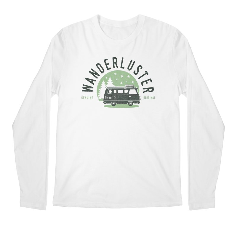 Wanderluster Men's Regular Longsleeve T-Shirt by cabinsupplyco's Artist Shop