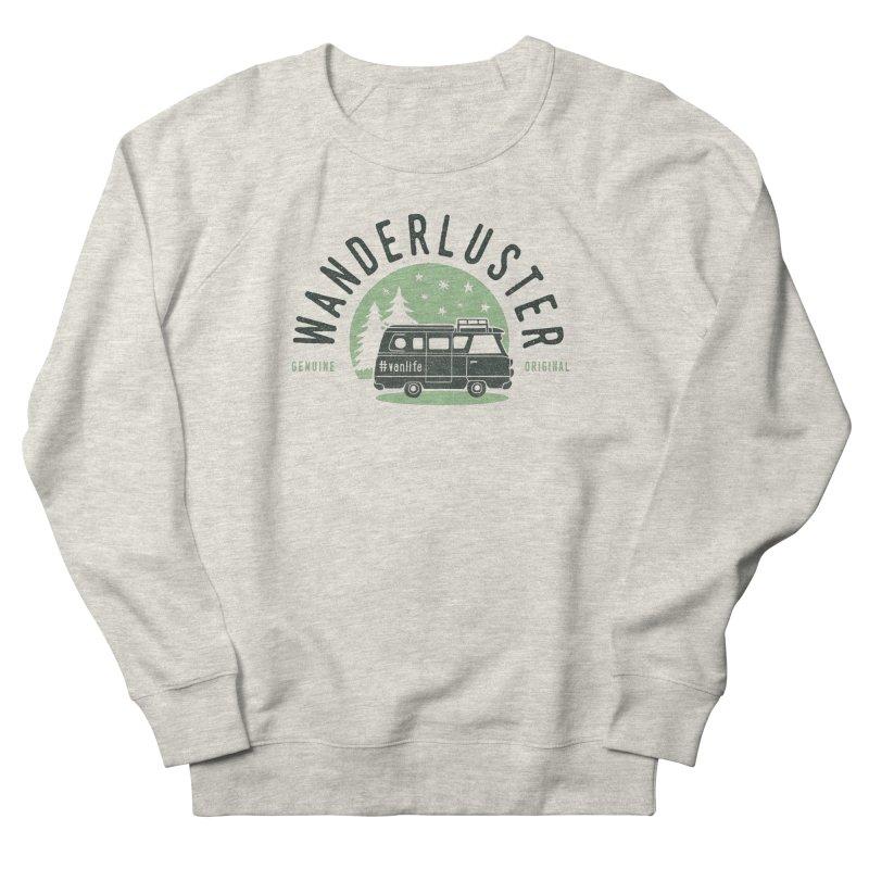 Wanderluster Men's French Terry Sweatshirt by cabinsupplyco's Artist Shop