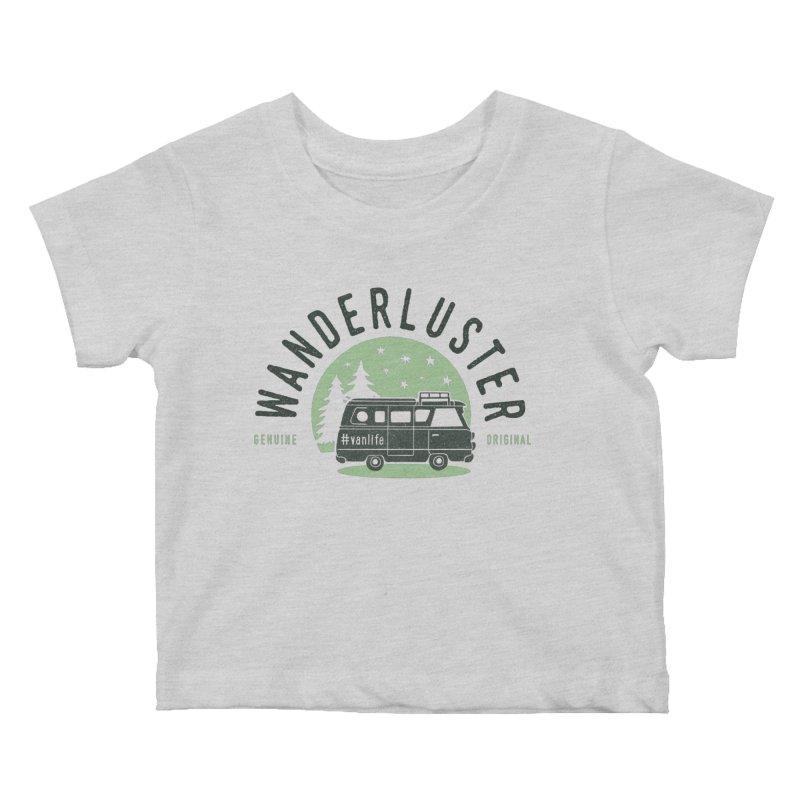 Wanderluster Kids Baby T-Shirt by cabinsupplyco's Artist Shop