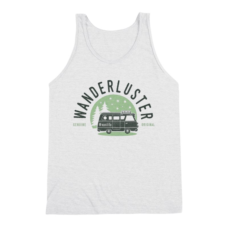 Wanderluster Men's Triblend Tank by cabinsupplyco's Artist Shop