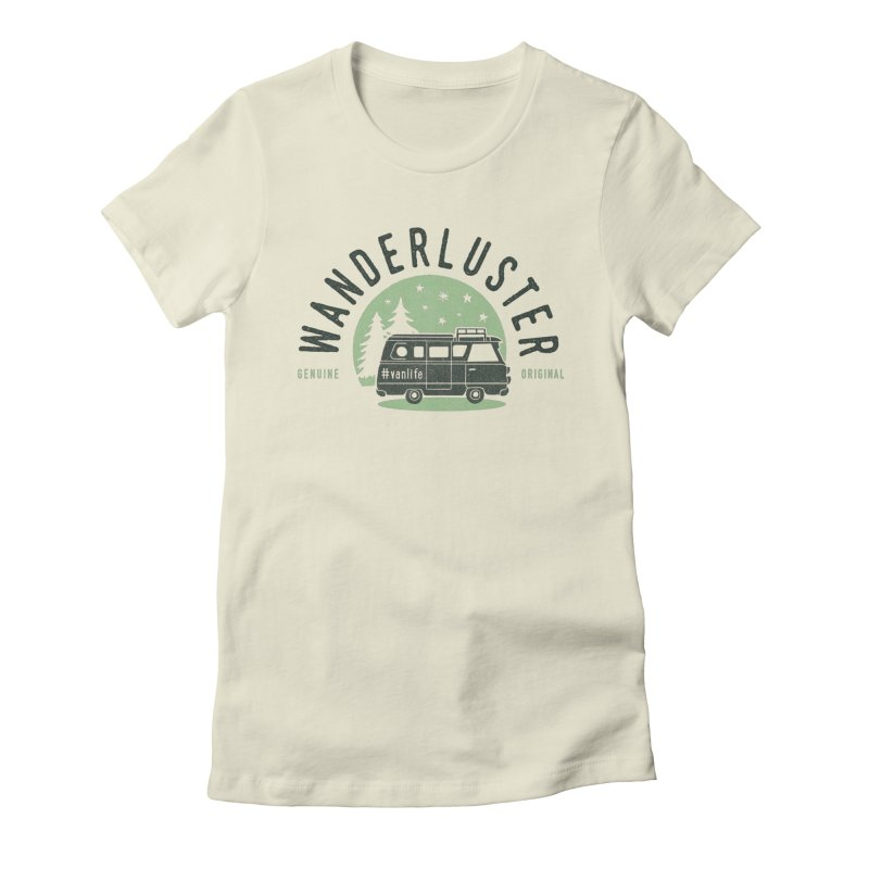 Wanderluster Women's Fitted T-Shirt by cabinsupplyco's Artist Shop