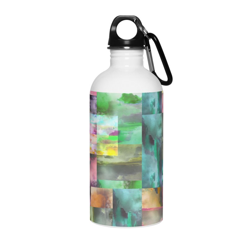 Geometric Arizona Sunset Clouds Accessories Water Bottle by Cactus Branch
