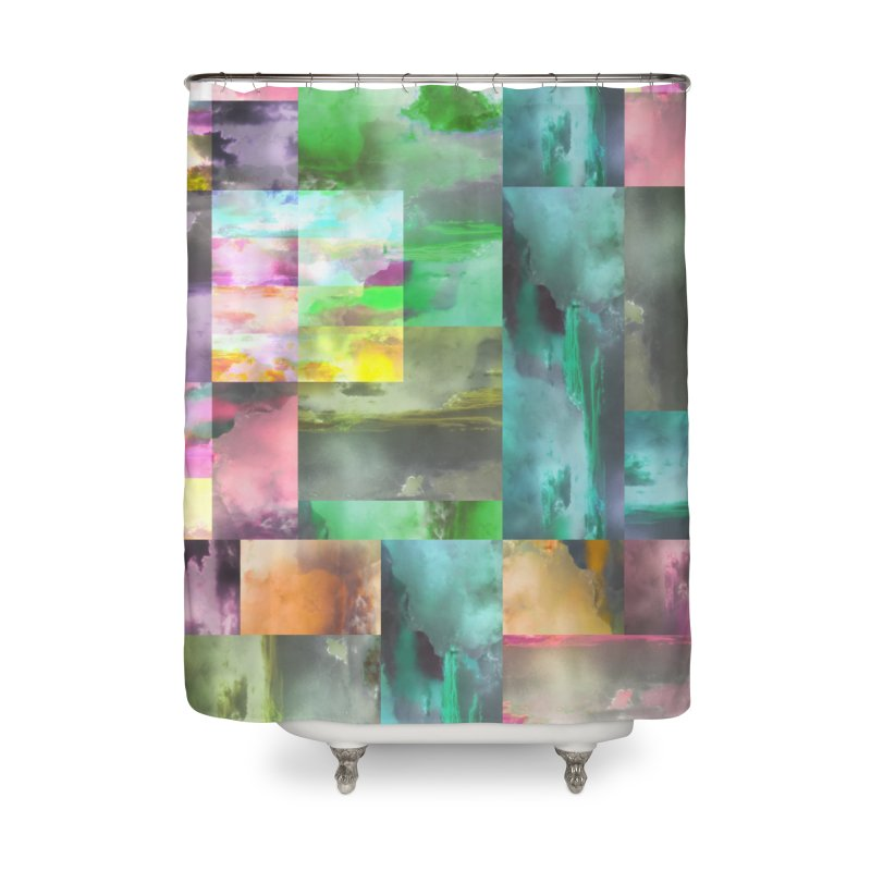 Geometric Arizona Sunset Clouds Home Shower Curtain by Cactus Branch