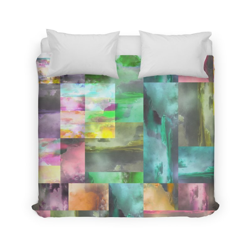 Geometric Arizona Sunset Clouds Home Duvet by Cactus Branch