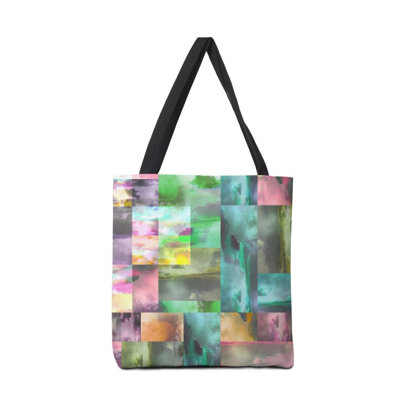 Geometric Arizona Sunset Clouds Accessories Tote Bag Bag by Cactus Branch