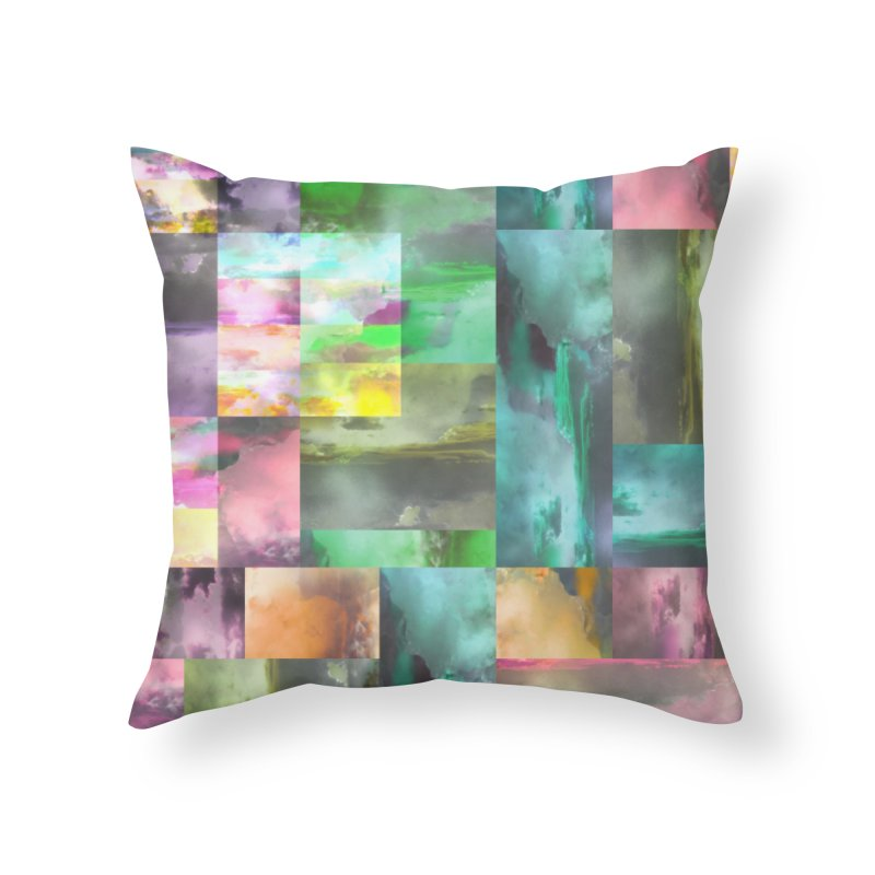 Geometric Arizona Sunset Clouds Home Throw Pillow by Cactus Branch