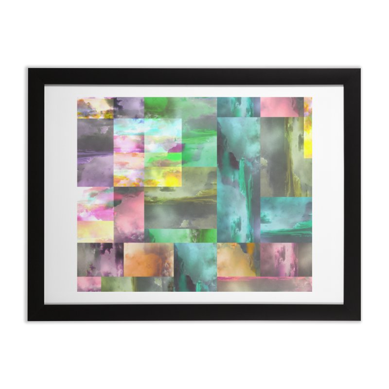 Geometric Arizona Sunset Clouds Home Framed Fine Art Print by Cactus Branch