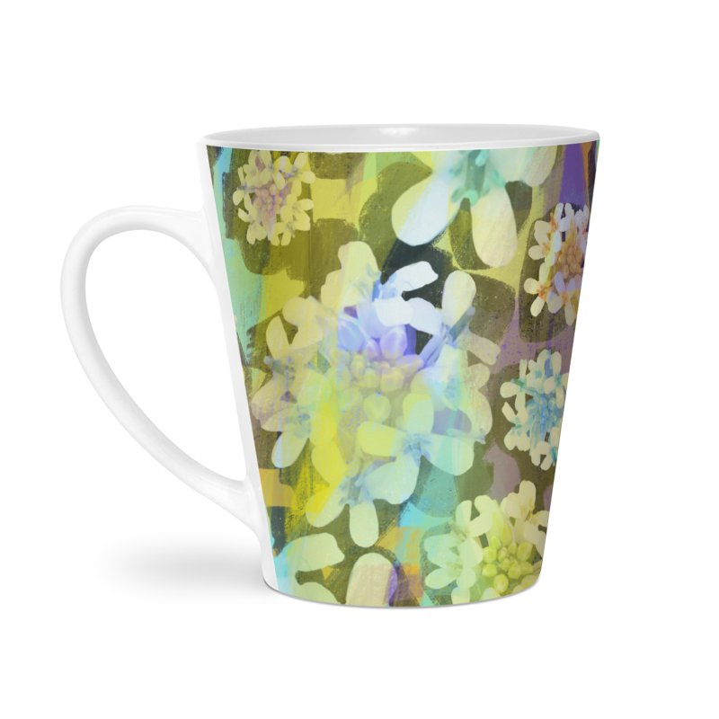 Forest Flower Collage Accessories Latte Mug by Cactus Branch
