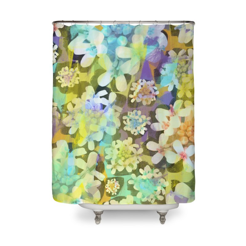 Forest Flower Collage Home Shower Curtain by Cactus Branch