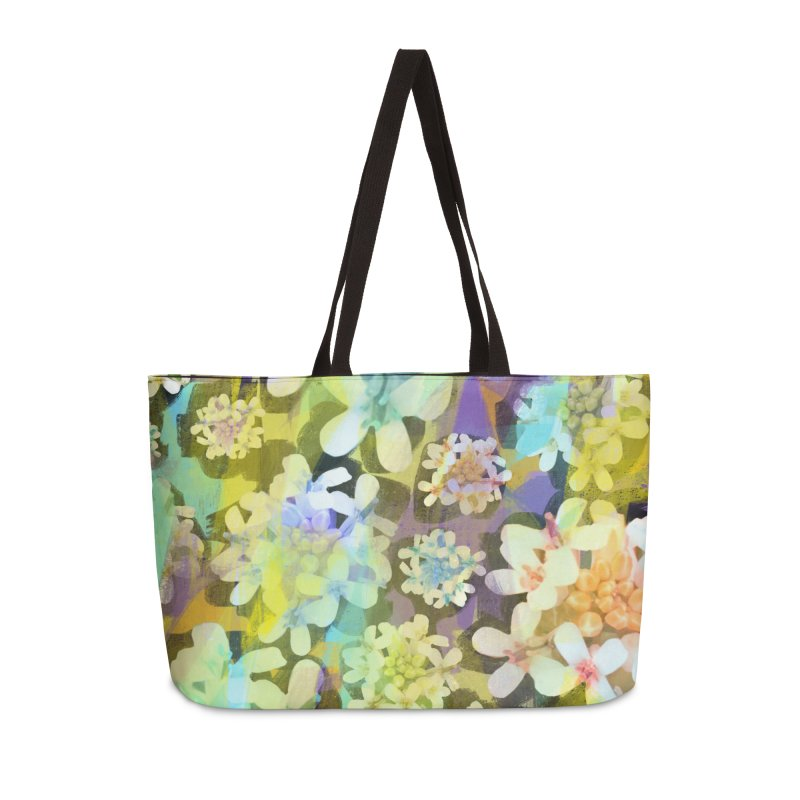 Forest Flower Collage Accessories Weekender Bag Bag by Cactus Branch