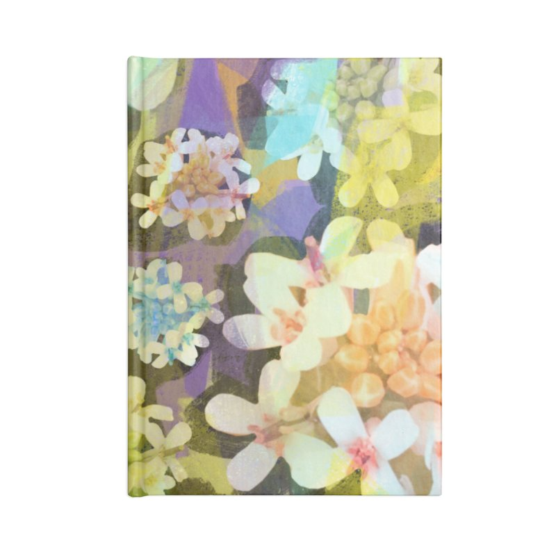 Forest Flower Collage Accessories Lined Journal Notebook by Cactus Branch