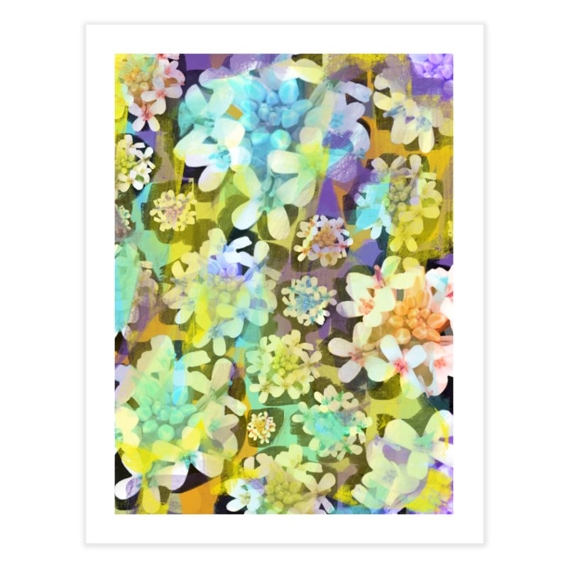 Forest Flower Collage Home Fine Art Print by Cactus Branch