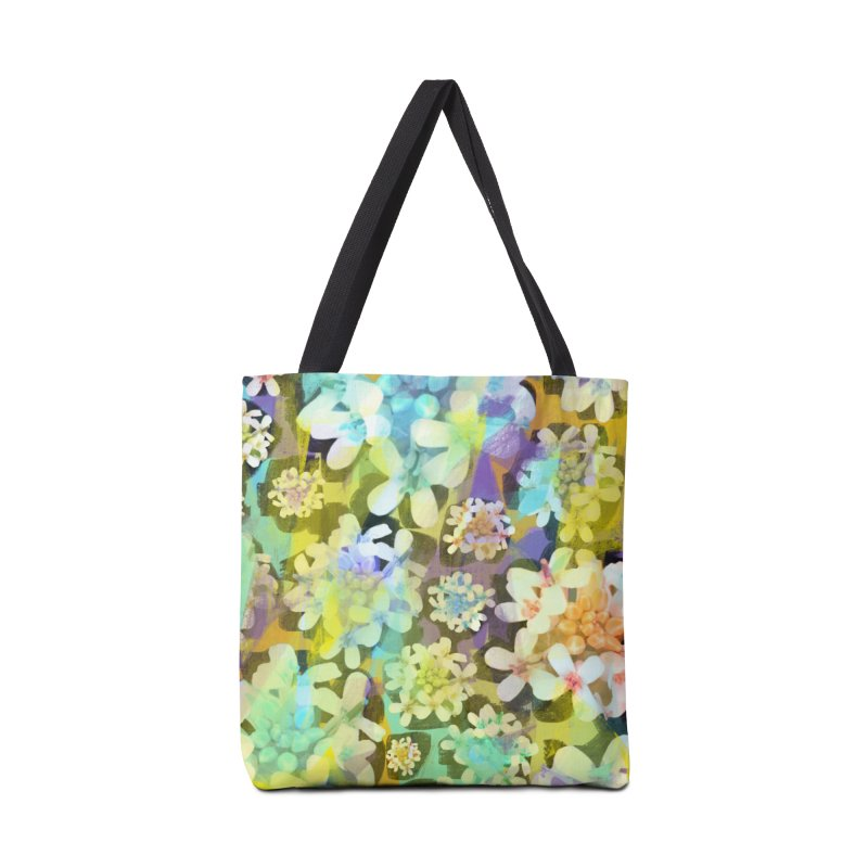 Forest Flower Collage Accessories Tote Bag Bag by Cactus Branch