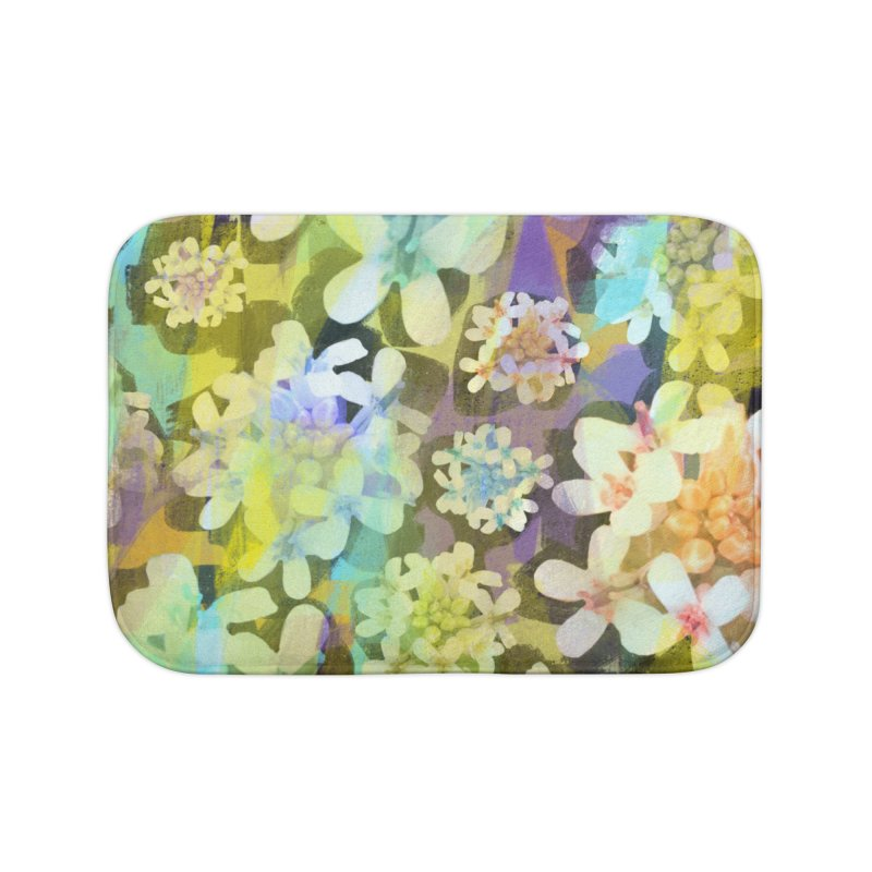 Forest Flower Collage Home Bath Mat by Cactus Branch