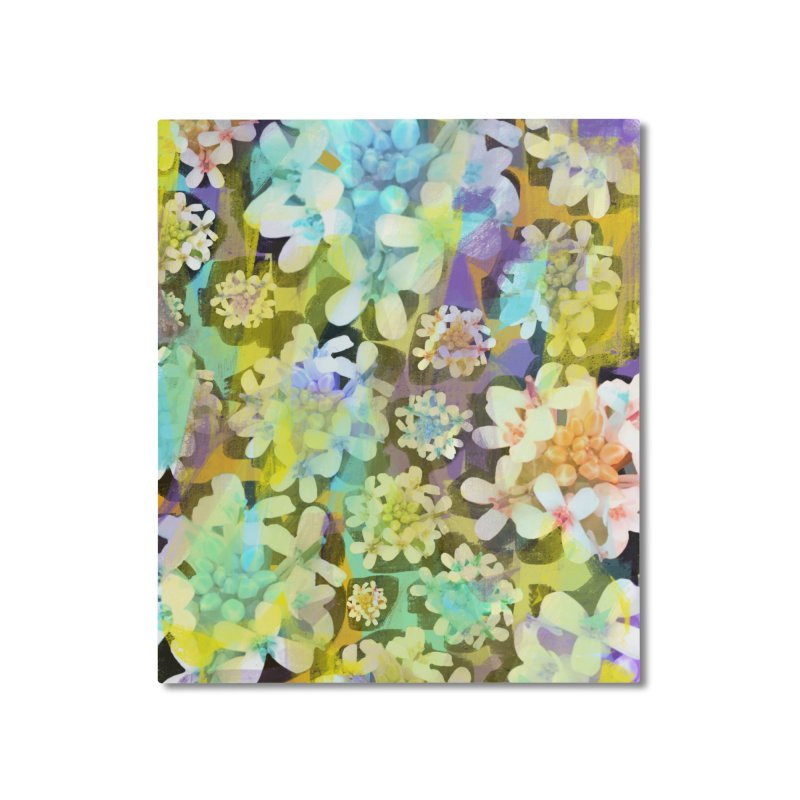 Forest Flower Collage Home Mounted Aluminum Print by Cactus Branch