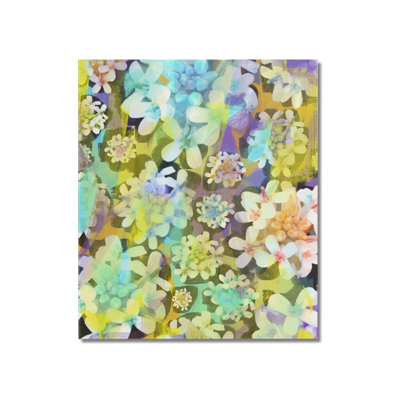 Forest Flower Collage Home Mounted Acrylic Print by Cactus Branch