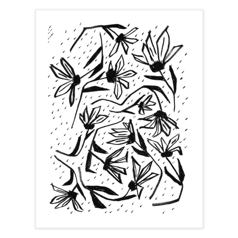 Black Marker Floral Home Fine Art Print by Cactus Branch