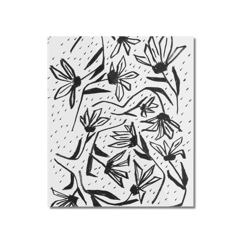 Black Marker Floral Home Mounted Acrylic Print by Cactus Branch