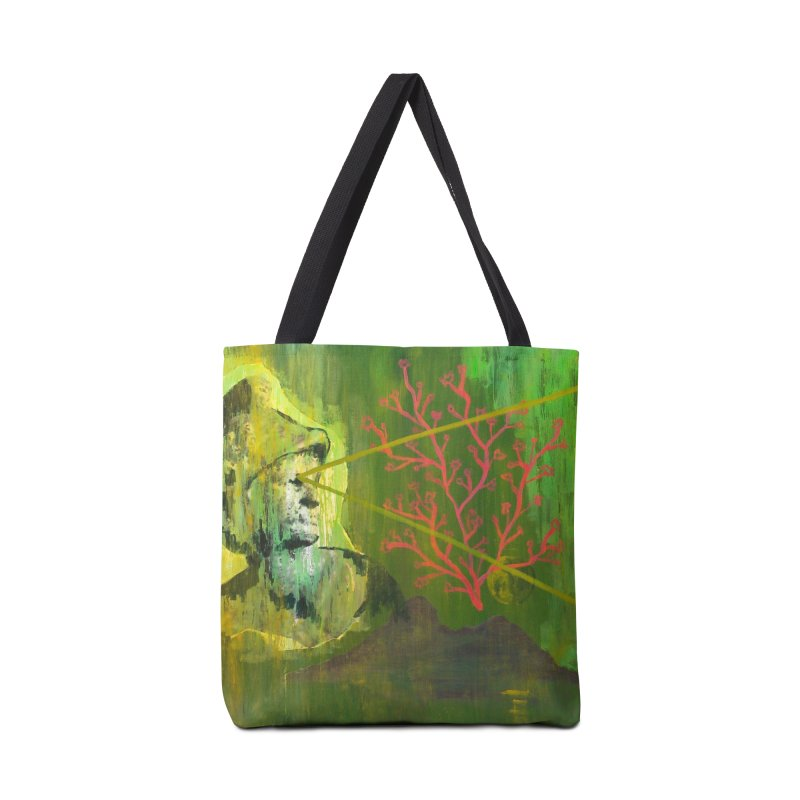 Old Wise Eyes Painting Accessories Tote Bag Bag by Cactus Branch