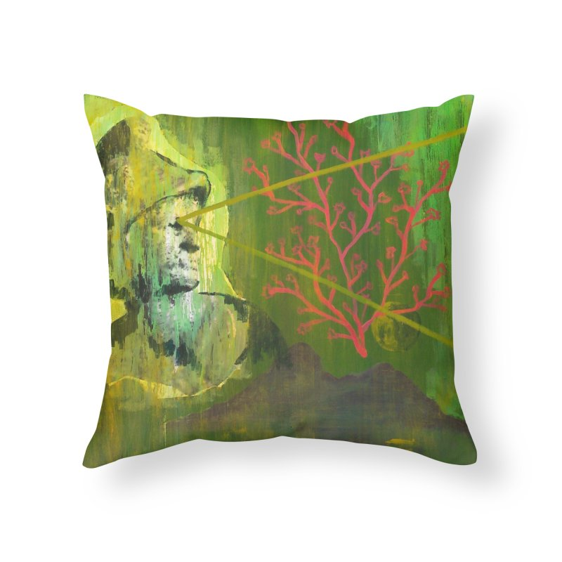 Old Wise Eyes Painting Home Throw Pillow by Cactus Branch