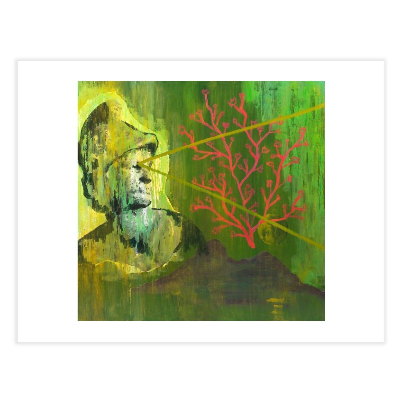 Old Wise Eyes Painting Home Fine Art Print by Cactus Branch