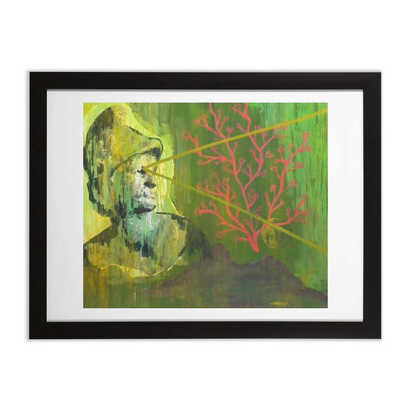 Old Wise Eyes Painting Home Framed Fine Art Print by Cactus Branch