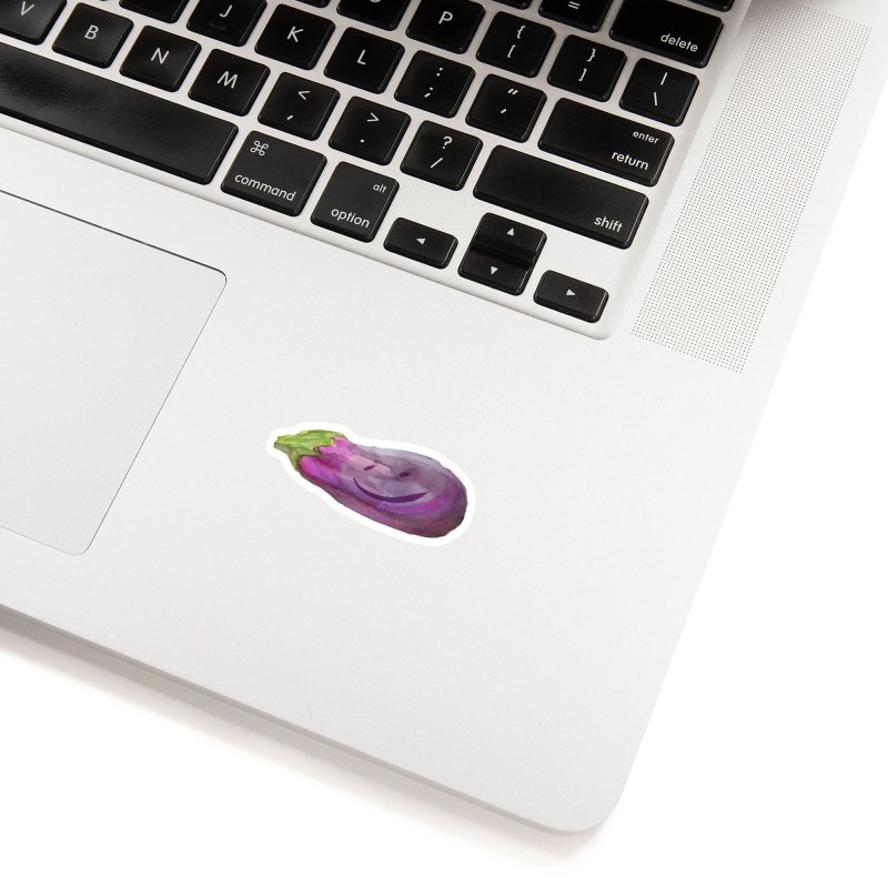 Happy Eggplant Accessories Sticker by Cactus Branch